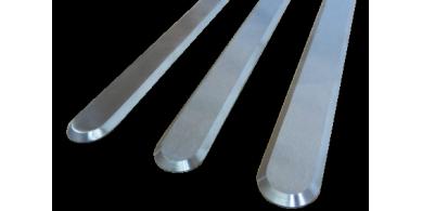 Podoinox  lames podotactiles en inox 316 brossé  inox 316 gaufré